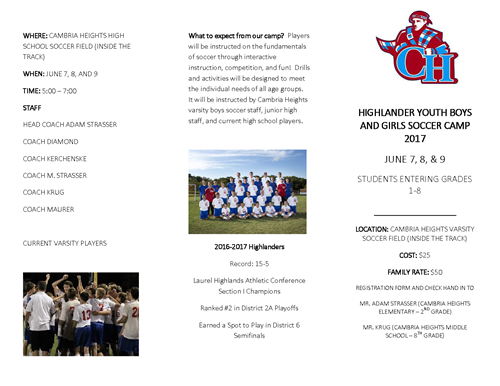 Highlander Soccer Camp