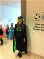 Mrs. Wargo as Captain Recycle!